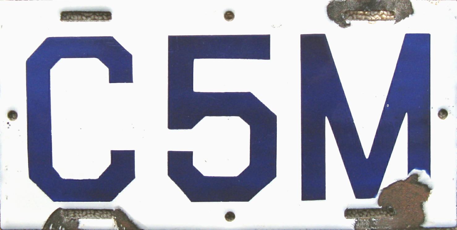ARCHIVE: Connecticut Porcelain License Plates (Part 2 of 2)
