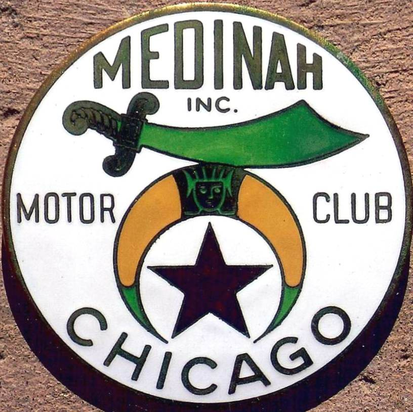 Chicago Motor Club Aaa Porcelain Sign