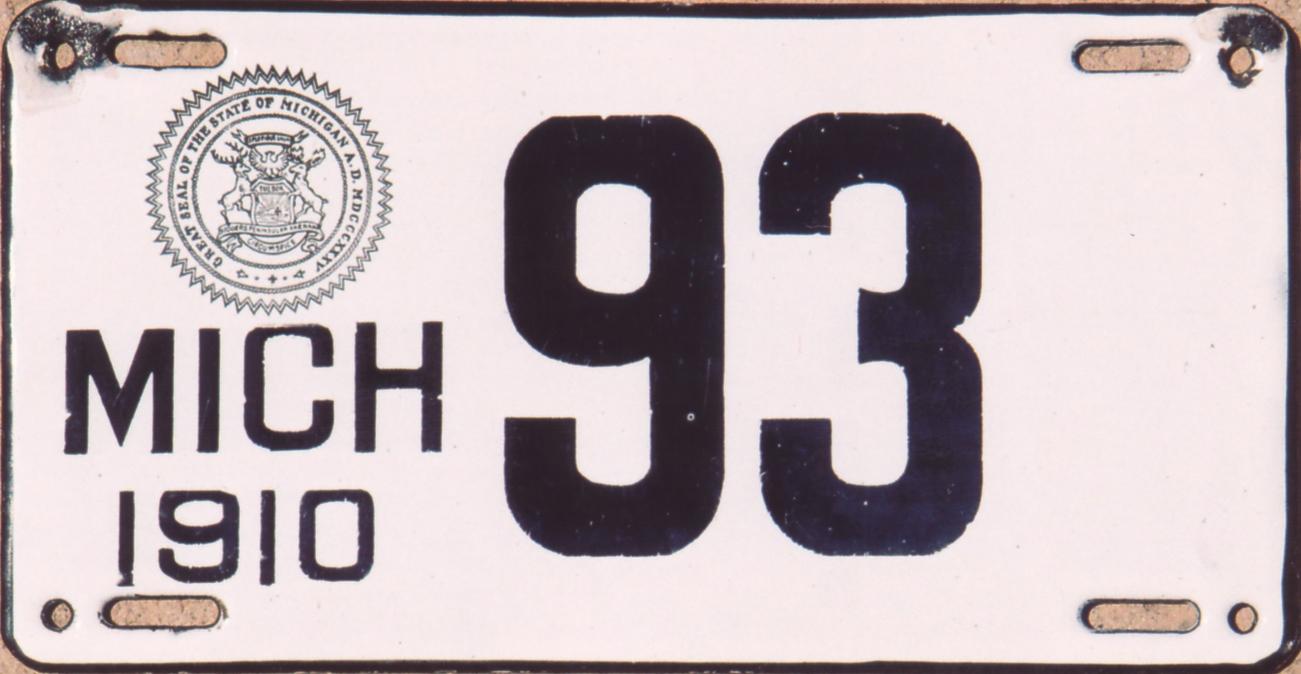 ARCHIVE: Michigan Porcelain License Plates