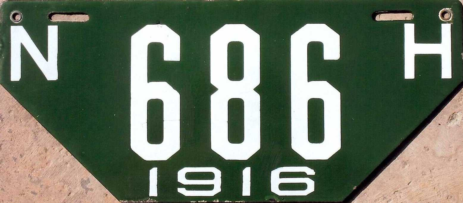 Porcelain License Plate Gallery - Unusual Shapes