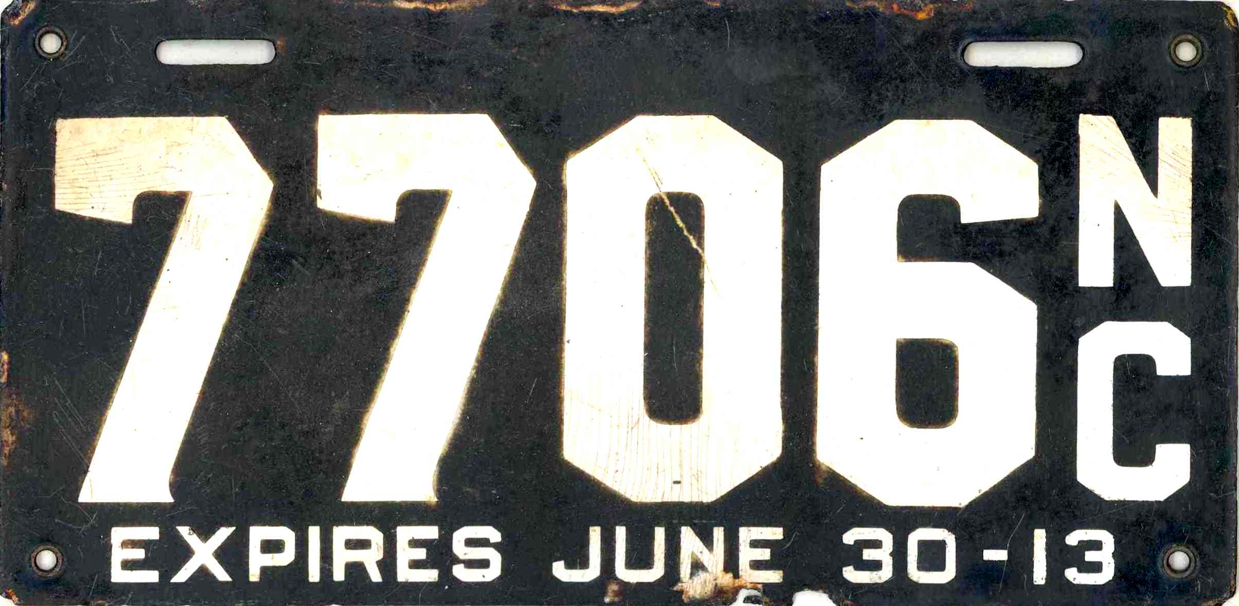 ARCHIVE: North Carolina Porcelain License Plates