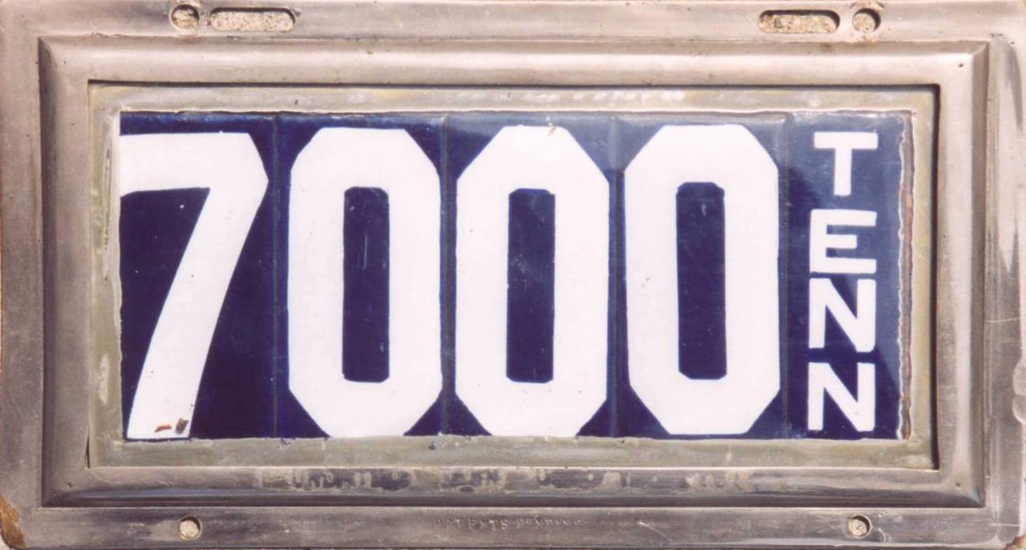 ARCHIVE: Tennessee Porcelain License Plates